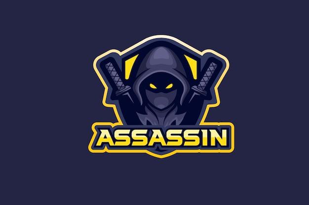 Logo De L'assassin Vecteur Premium