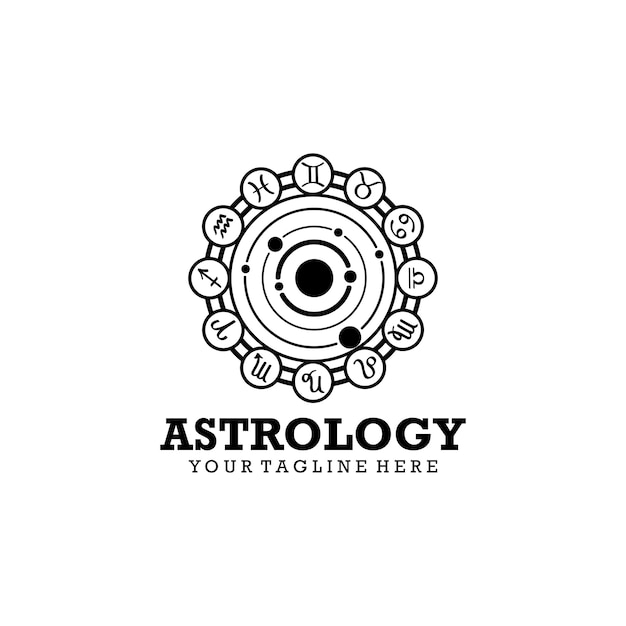 Logo de l'astrologie Vecteur Premium