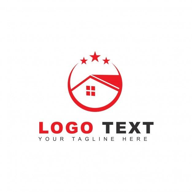Logo avec une maison rouge t l charger des vecteurs for Logo avec une maison