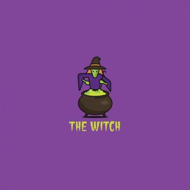 Logo avec une sorci re et une potion t l charger des - Jeux de sorciere potion magique gratuit ...