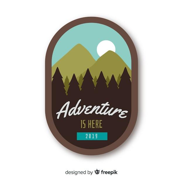Logo d'aventure vintage Vecteur gratuit