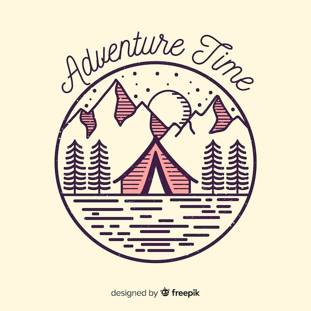 Logo d'aventure Vecteur gratuit