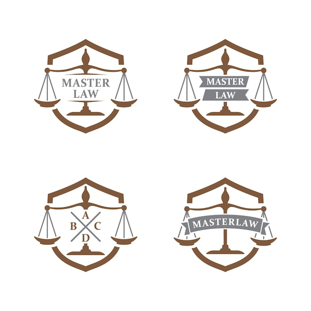 Logo De Lavocat Et De La Justice Logo Du Cabinet Davocats Marque