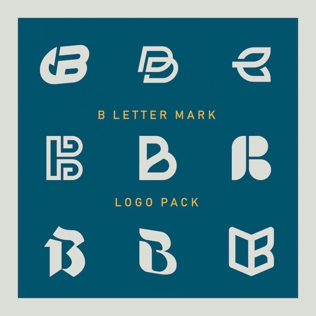 Logo b lettre Vecteur Premium