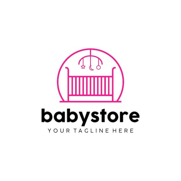 Logo de babystore Vecteur Premium