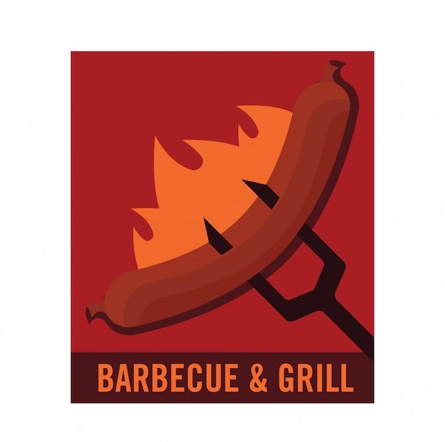 Logo barbecue Vecteur Premium