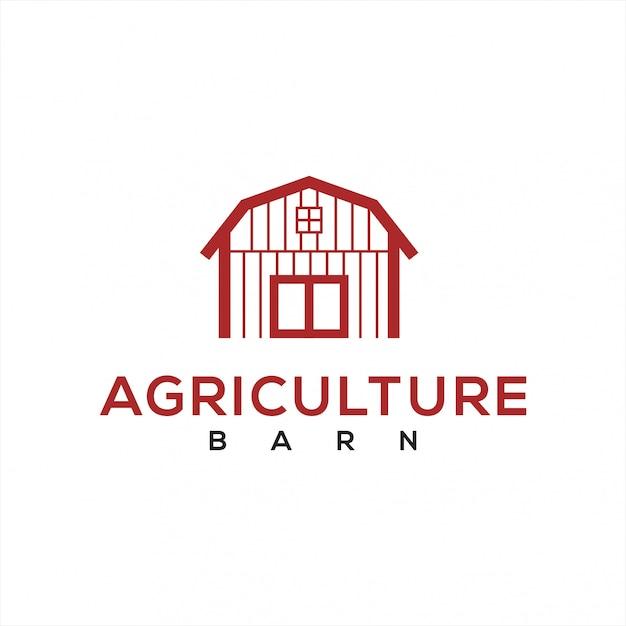 Logo barn pour l'industrie agricole Vecteur Premium