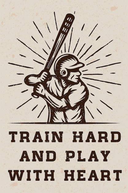 Logo De Baseball Vecteur Premium
