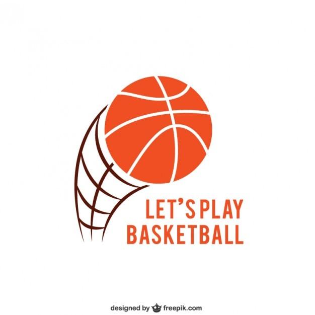 Logo de basket-ball Vecteur gratuit