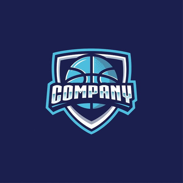 Logo de basket Vecteur Premium