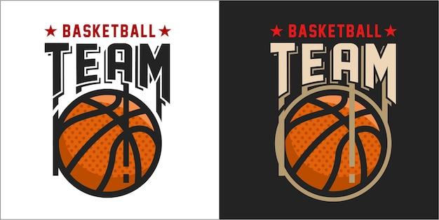 Logo de basketball moderne Vecteur Premium