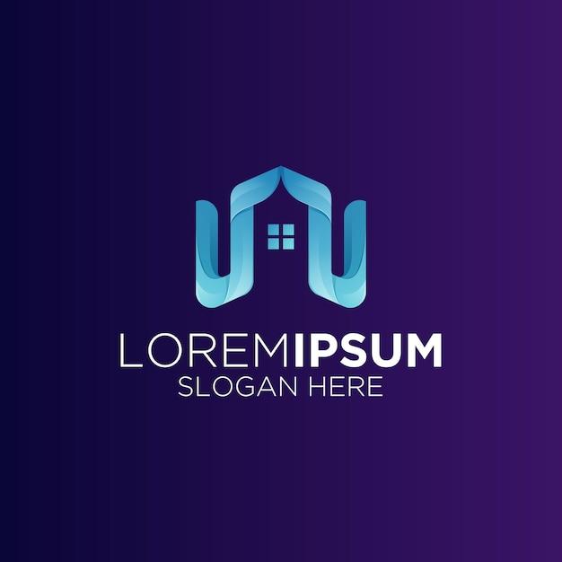 Logo De Bâtiment Immobilier Minimaliste Créatif Vecteur Premium