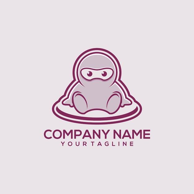 Logo bébé ninja Vecteur Premium