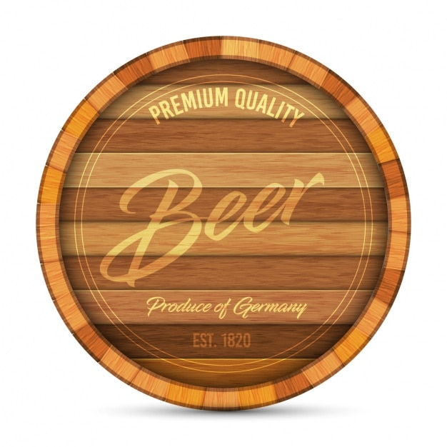 Logo de la bière Vecteur gratuit