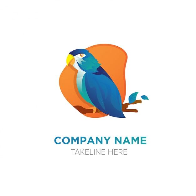 Logo bird Vecteur Premium