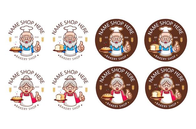 Logo De Boulangerie Légendaire Vecteur Premium