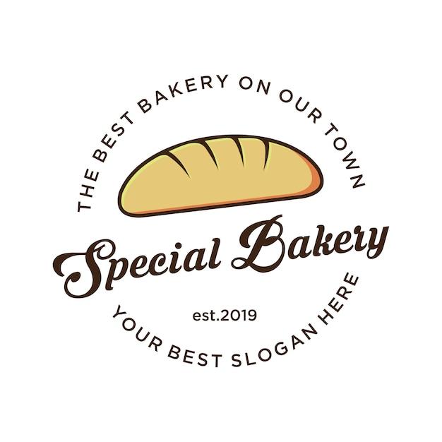 Logo De Boulangerie Avec Logo Vintage, Vecteur Premium
