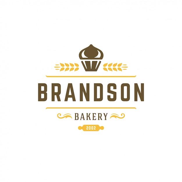 Logo De Boulangerie Rétro Vecteur Premium