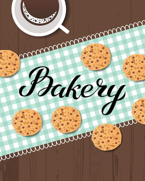 Logo de la boulangerie Vecteur Premium
