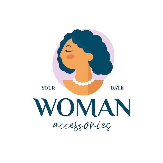 Logo De Boutique Beauté Femme Vecteur Premium