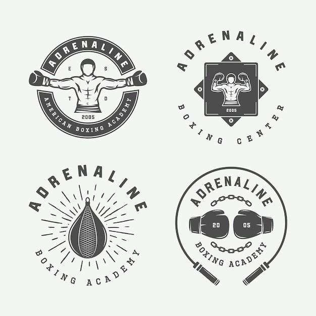 Logo de boxe et arts martiaux Vecteur Premium