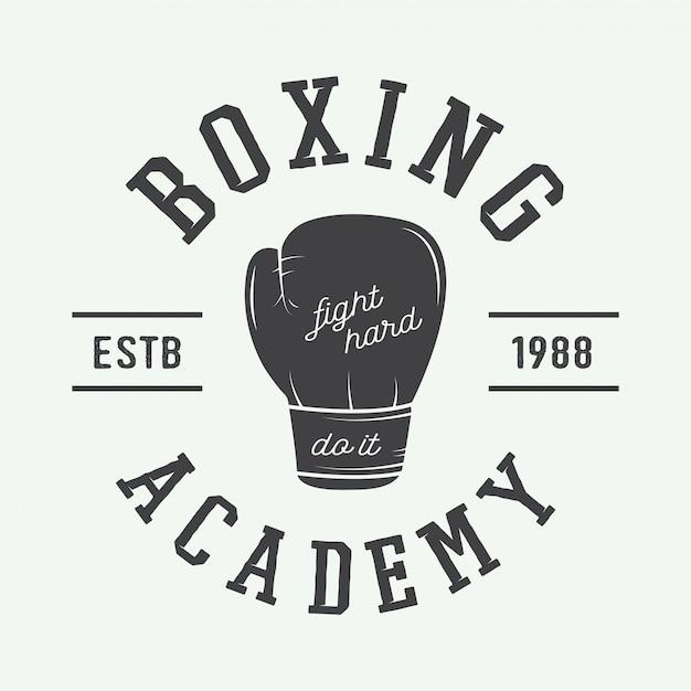 Logo de boxe Vecteur Premium