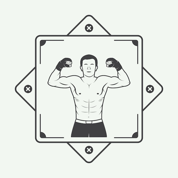 Logo Boxer Vecteur Premium