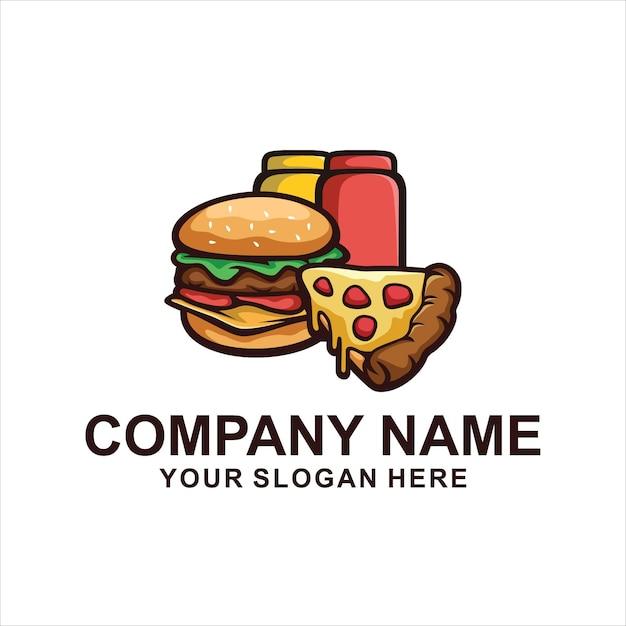 Logo Burger Chaud Isolé Sur Blanc Vecteur Premium