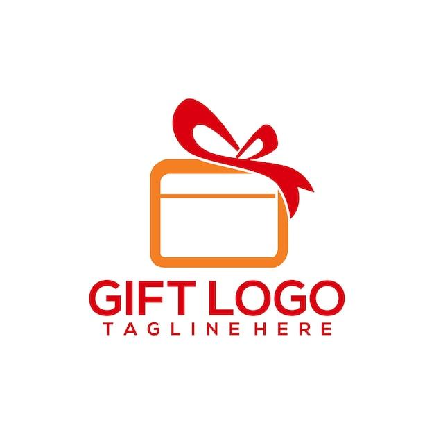 Logo cadeau Vecteur Premium