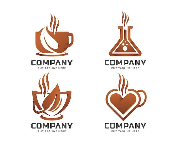 Logo de café pour entreprise Vecteur Premium