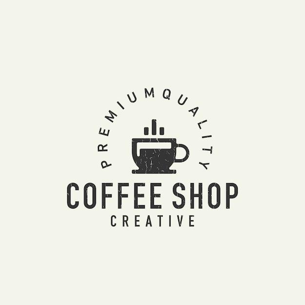 Logo de café Vecteur Premium