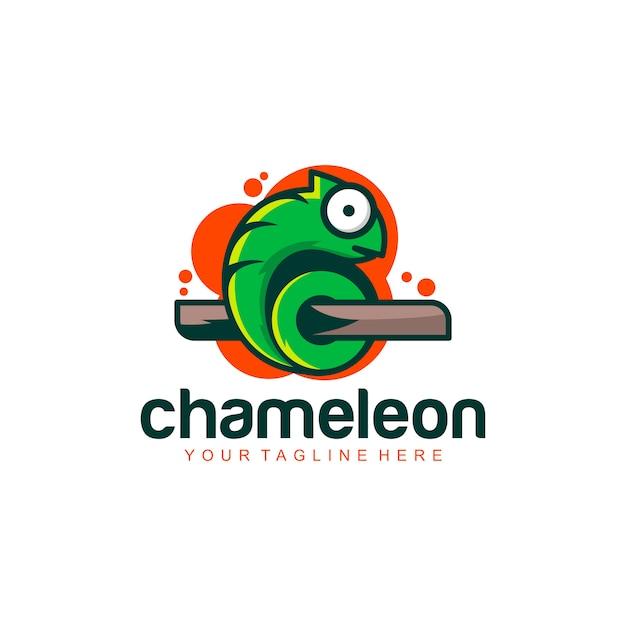 Logo caméléon Vecteur Premium