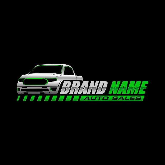 Logo de la camionnette Vecteur Premium