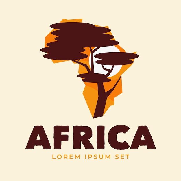 Logo De Carte De L'afrique Créative Vecteur Premium