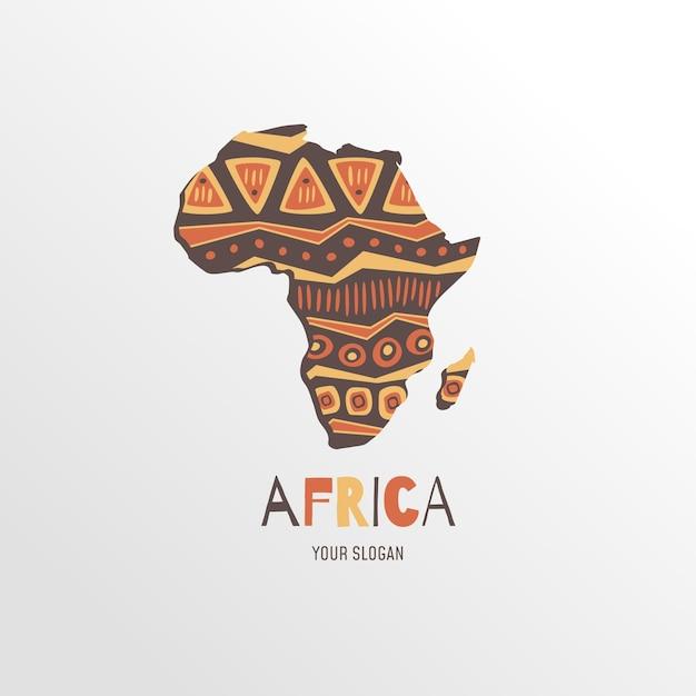 Logo De La Carte De L'afrique Avec Slogan Vecteur Premium