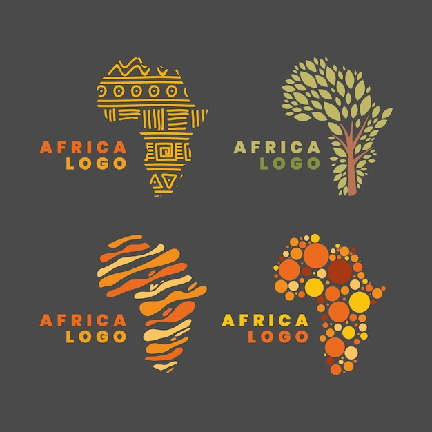 Logo De La Carte De L'afrique Vecteur Premium