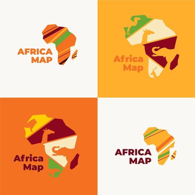 Logo De La Carte De L'afrique Vecteur gratuit