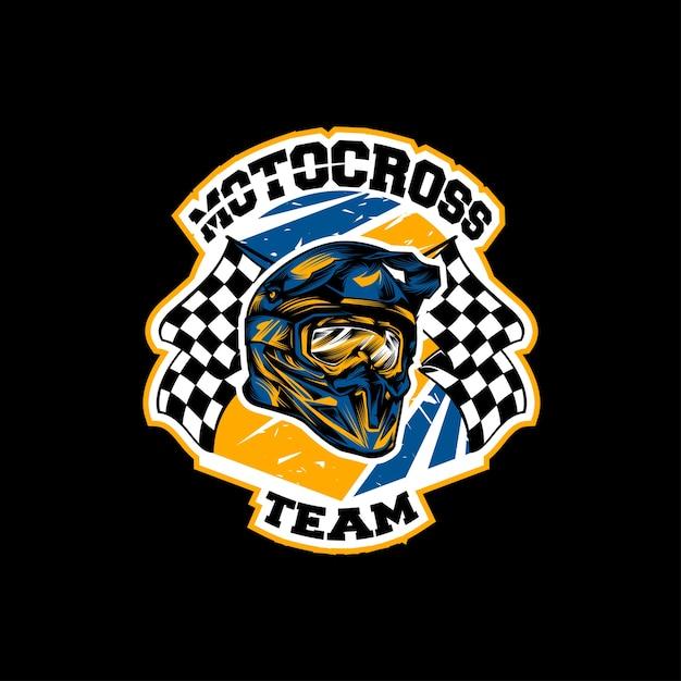 Logo De Casque De Motocross Télécharger Des Vecteurs Premium