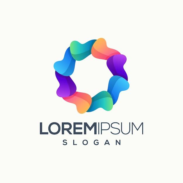 Logo de cercle abstrait Vecteur Premium