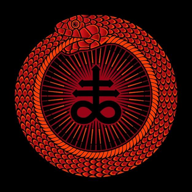 Logo De Cercle De Serpent Vecteur Premium
