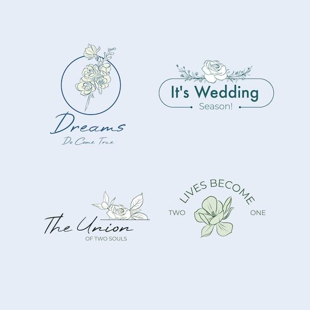 Logo Avec Cérémonie De Mariage Pour La Marque Et L'icône Vecteur gratuit