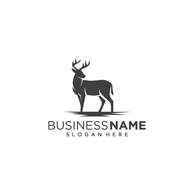 Logo de cerf classique Vecteur Premium