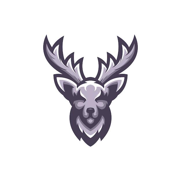 Logo de cerf vecteur Vecteur Premium
