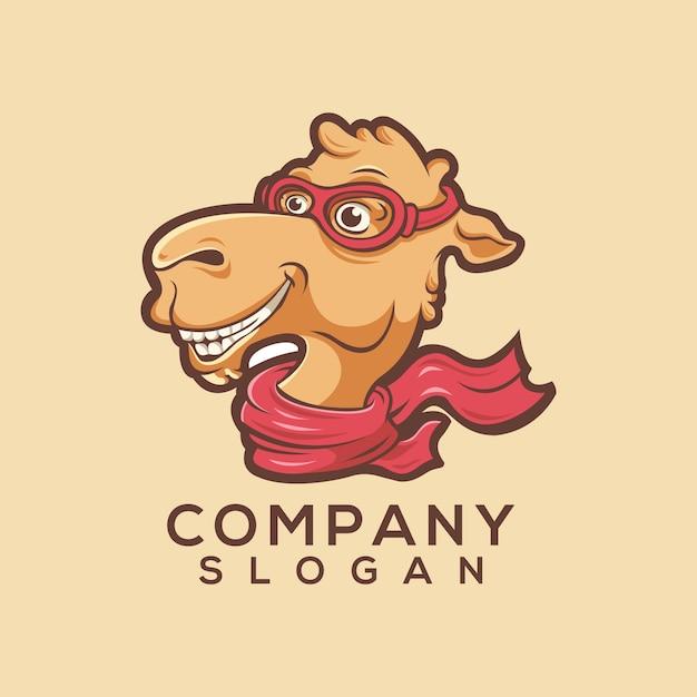 Logo de chameau Vecteur Premium