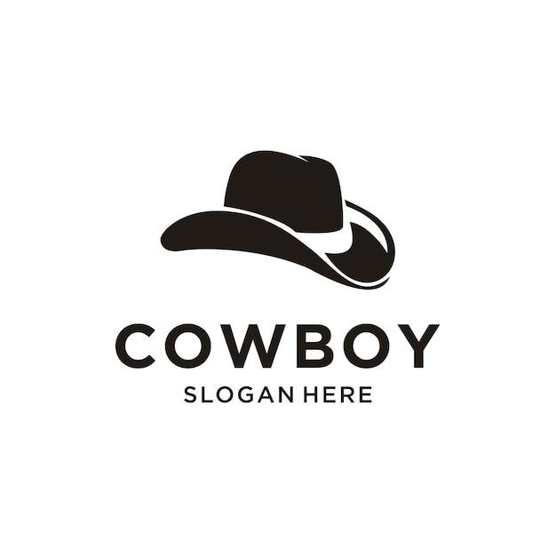 Logo De Chapeau De Cowboy Vecteur Premium