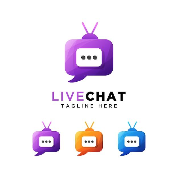 Logo De Chat En Direct Ou Chat En Direct Vecteur Premium
