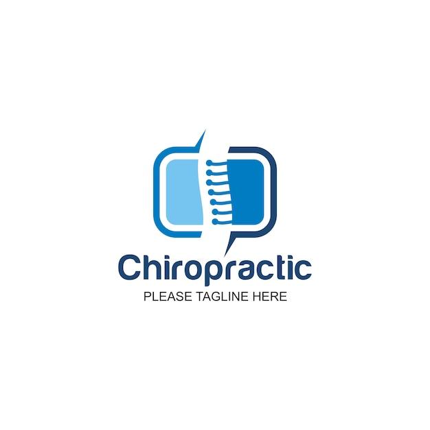 Logo chiropratique Vecteur Premium