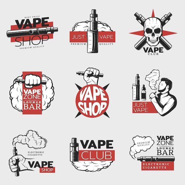 Logo De Cigarette électronique Colorée Vecteur gratuit