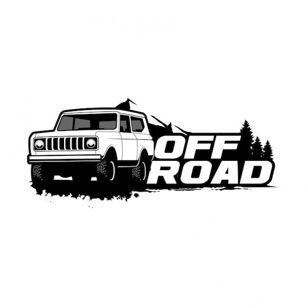 Logo Classique Hors Route Vecteur Premium
