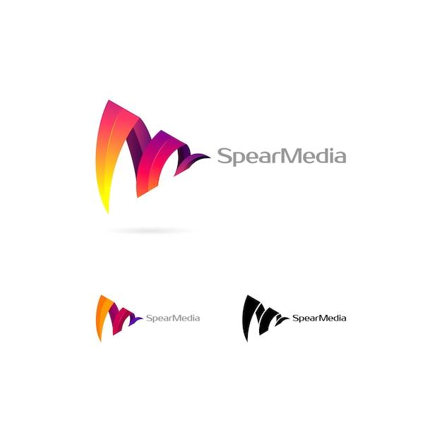 Logo coloré abstrait Vecteur Premium